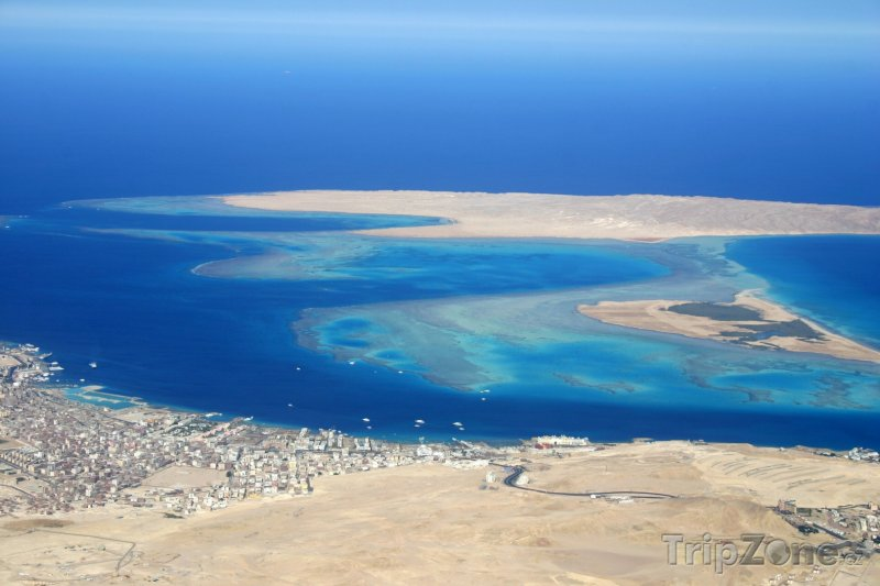 Fotka, Foto Letecký pohled na ostrov Giftun (Hurghada, Egypt)