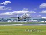 Letiště Ruzyně, startující letadlo