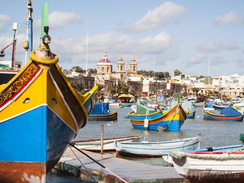 Fotka, Foto Lodě v přístavu Marsaskala (Malta)