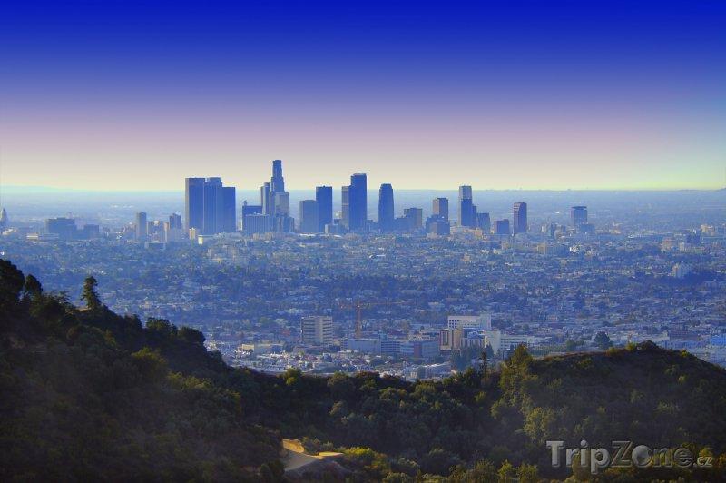 Fotka, Foto Los Angeles při východu slunce (Los Angeles, USA)