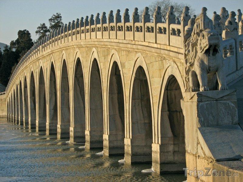 Fotka, Foto Lví most před Letním palácem (Peking, Čína)