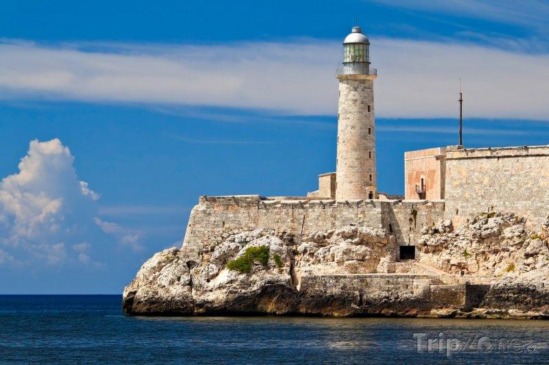 Fotka, Foto Maják na pevnosti El Morro (Havana, Kuba)