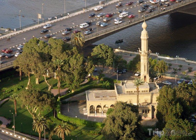 Fotka, Foto Mešita na břehu Nilu (Káhira, Egypt)