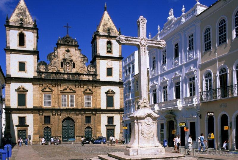 Fotka, Foto Město Salvador - kostel Sao Francisco (Brazílie)