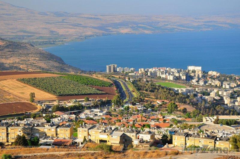 Fotka, Foto Město Tiberias a Galilejské jezero (Izrael)