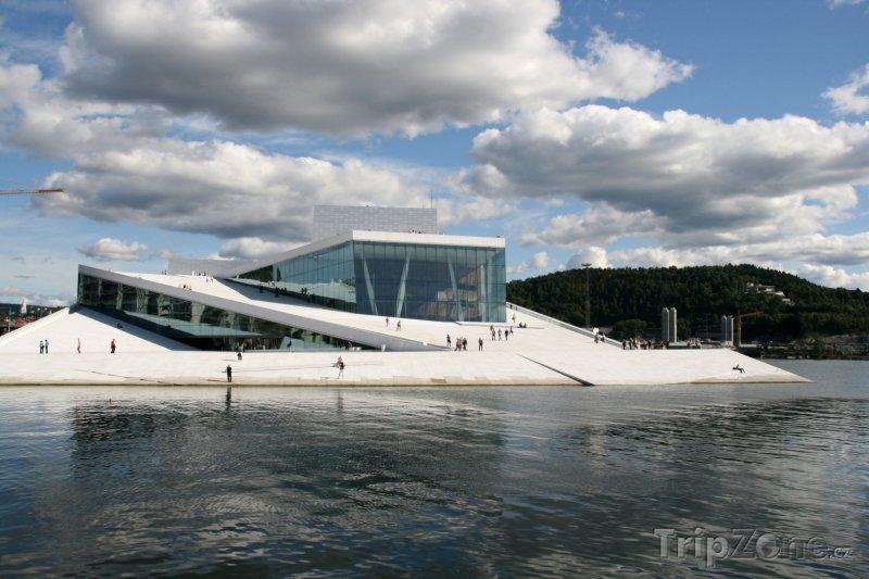 Fotka, Foto Moderní budova opery v Oslu (Norsko)