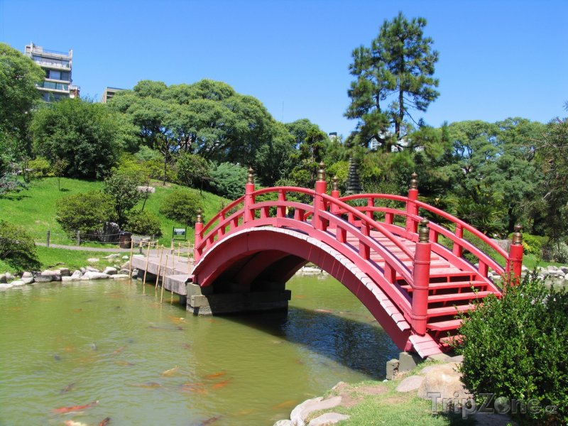 Fotka, Foto Most v Japonské zahradě (Buenos Aires, Argentina)