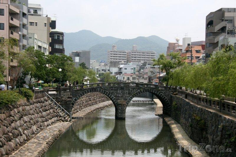 Fotka, Foto Nagasaki - most Meganebashi (Japonsko)