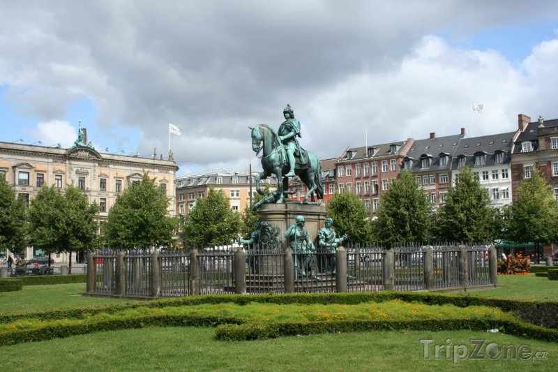 Fotka, Foto Náměstí Kogens Nytorv (Kodaň, Dánsko)