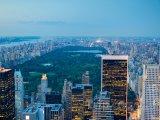 New York, pohled na Central Park za soumraku
