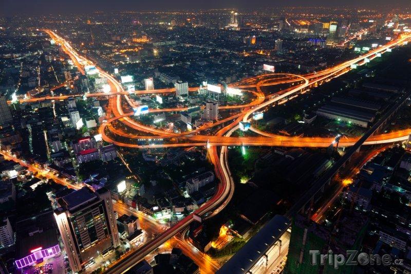 Fotka, Foto Noční doprava v Bangkoku (Bangkok, Thajsko)