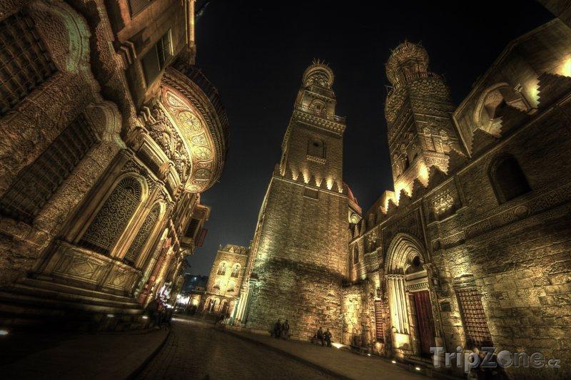 Fotka, Foto Noční ulice El Moez (Káhira, Egypt)