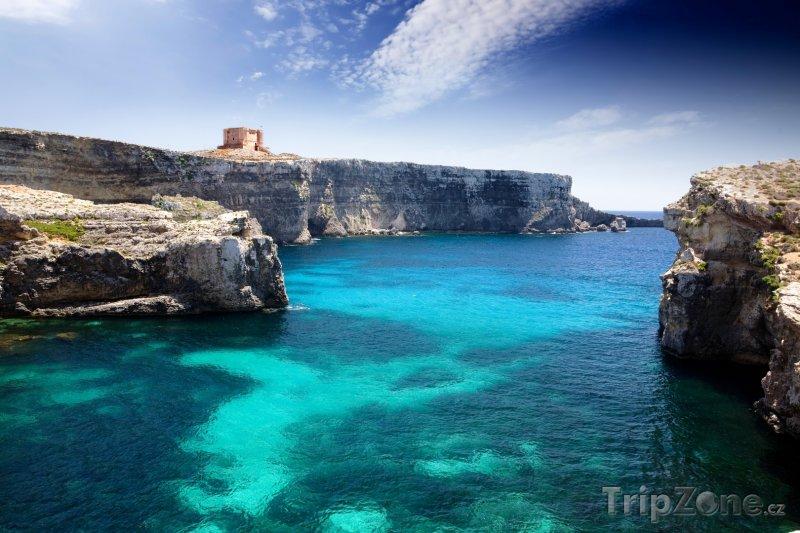 Fotka, Foto Ostrov Comino, St Mary's Tower (Malta)