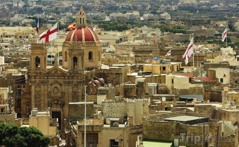 Fotka, Foto Ostrov Gozo, panoráma města Victoria (Malta)