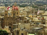 Ostrov Gozo, panoráma města Victoria