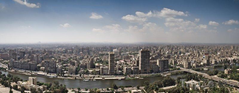 Fotka, Foto Panoramatický pohled na město (Káhira, Egypt)