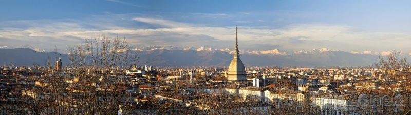 Fotka, Foto Panoramatický pohled na město (Turín, Itálie)