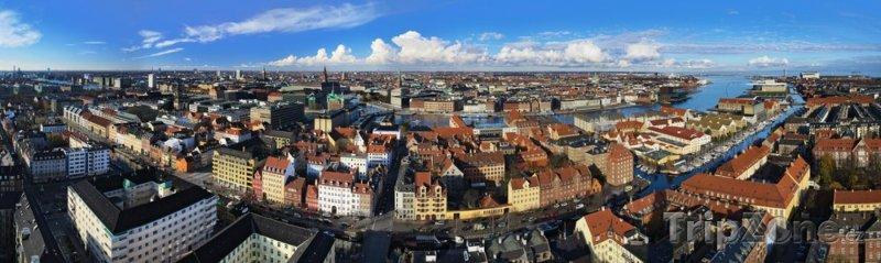 Fotka, Foto Panoramatický pohled na město (Kodaň, Dánsko)