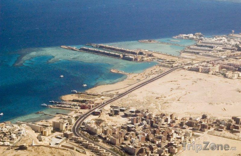 Fotka, Foto Panoramatický pohled na pobřeží (Hurghada, Egypt)