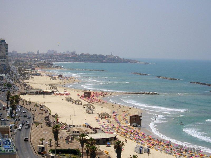 Fotka, Foto Pláž v Tel Avivu (Izrael)