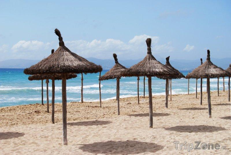 Fotka, Foto Pobřežní pás Platja de Palma (Palma de Mallorca, Španělsko)