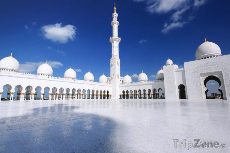 Fotka, Foto Pohled do mešity Sheikh Zayed (Abú Dhabí, Spojené arabské emiráty)