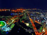 Pohled na Jokohamu v noci