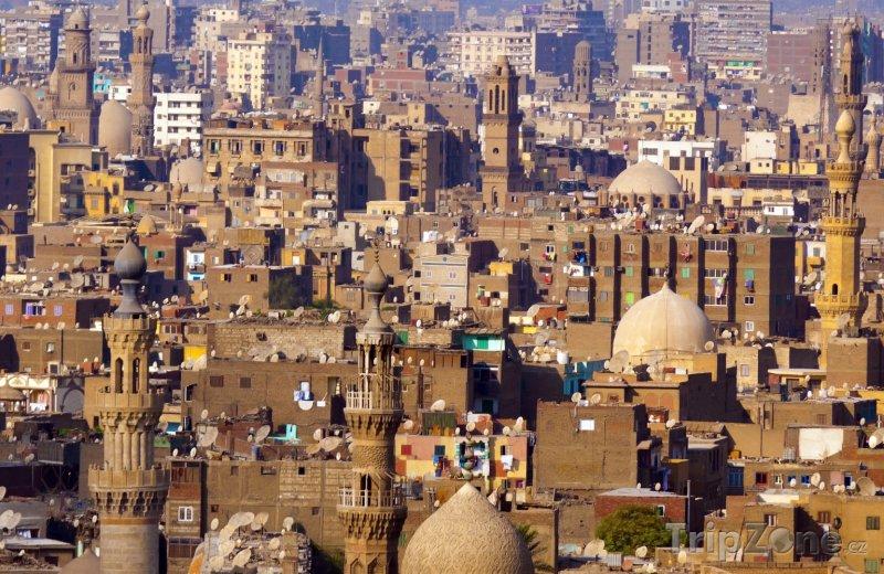 Fotka, Foto Pohled na káhirské domy (Káhira, Egypt)