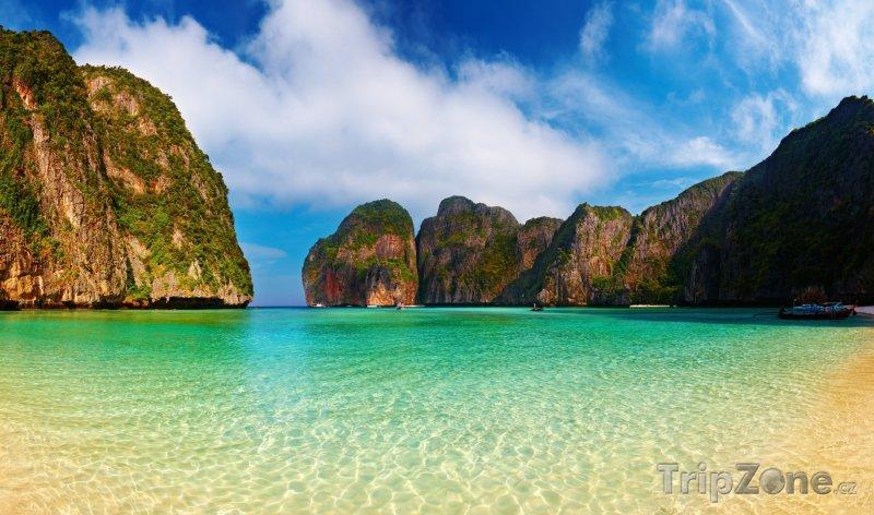 Fotka, Foto Pohled na Maya Bay (Thajsko)