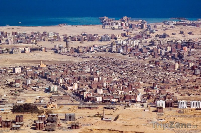 Fotka, Foto Pohled na město z letadla (Hurghada, Egypt)