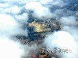 Pohled na město z letadla