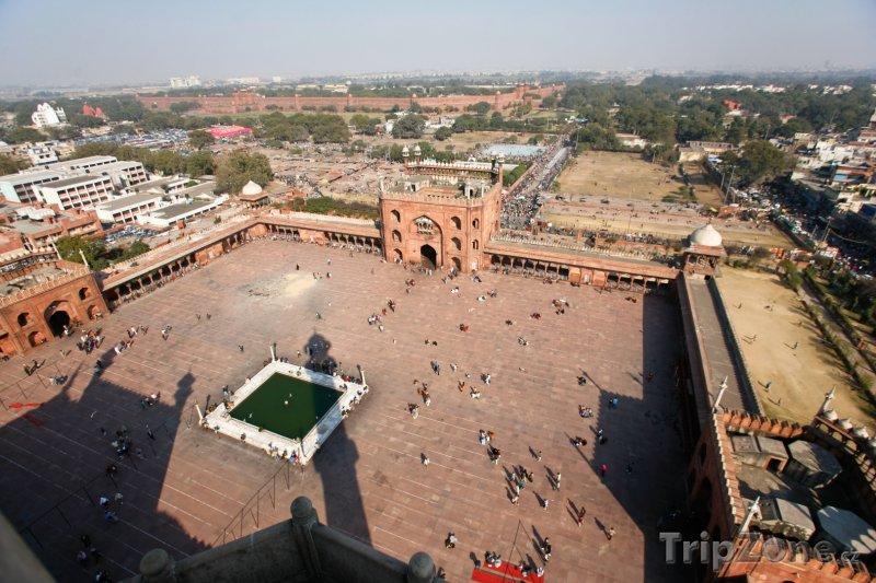 Fotka, Foto Pohled na náměstí v mešitě Džámí (Nové Dillí, Indie)