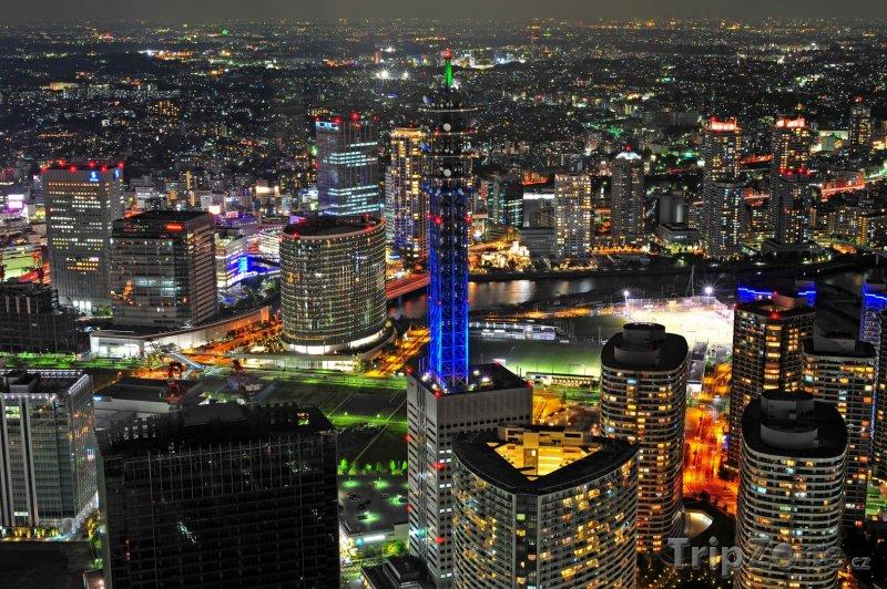Fotka, Foto Pohled na noční Jokohamu (Jokohama, Japonsko)