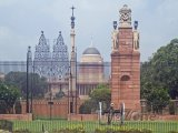 Pohled na palác Rashtrapati Bhavan