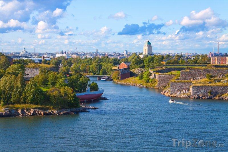 Fotka, Foto Pohled na pevnost Suomenlinna (Helsinky, Finsko)