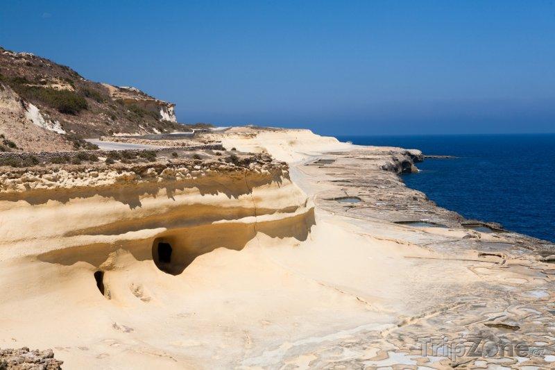 Fotka, Foto Pohled na pobřeží ostrova Gozo (Malta)