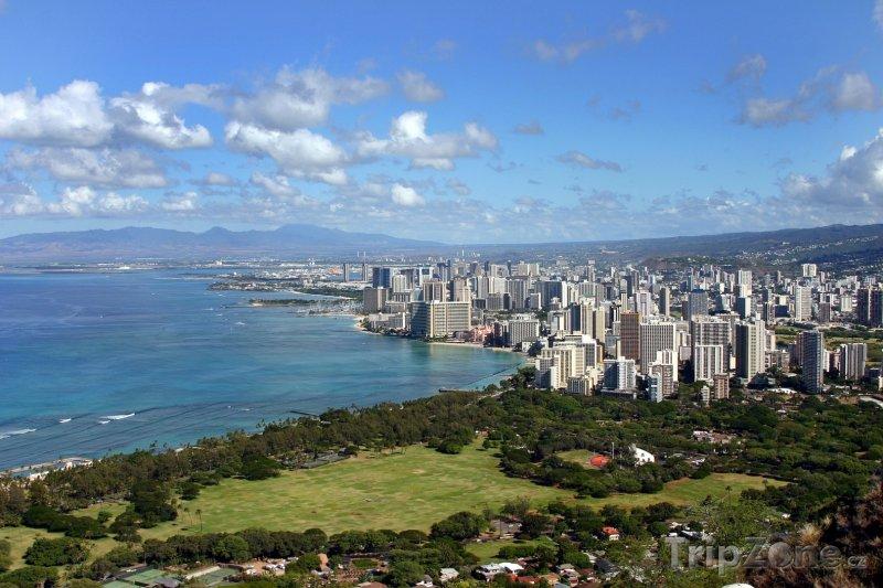 Fotka, Foto Pohled na pobřeží (Honolulu, USA)