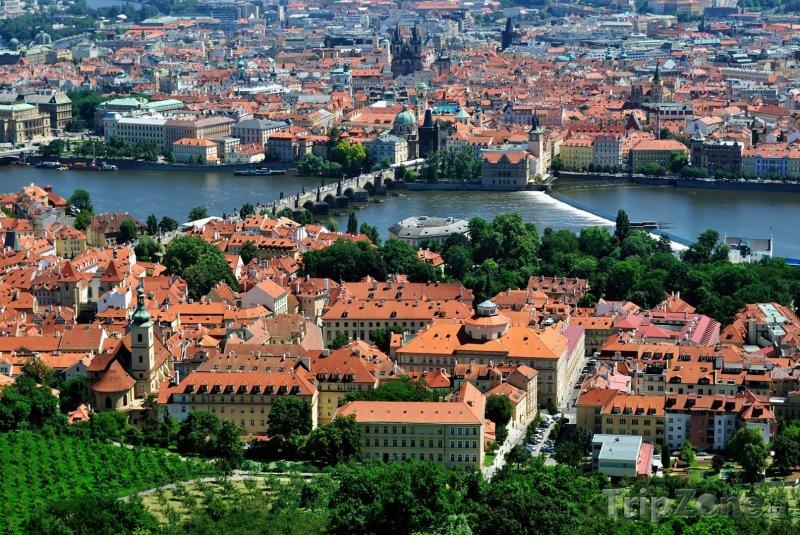 Fotka, Foto Pohled na Prahu z Petřína (Praha, Česká republika)