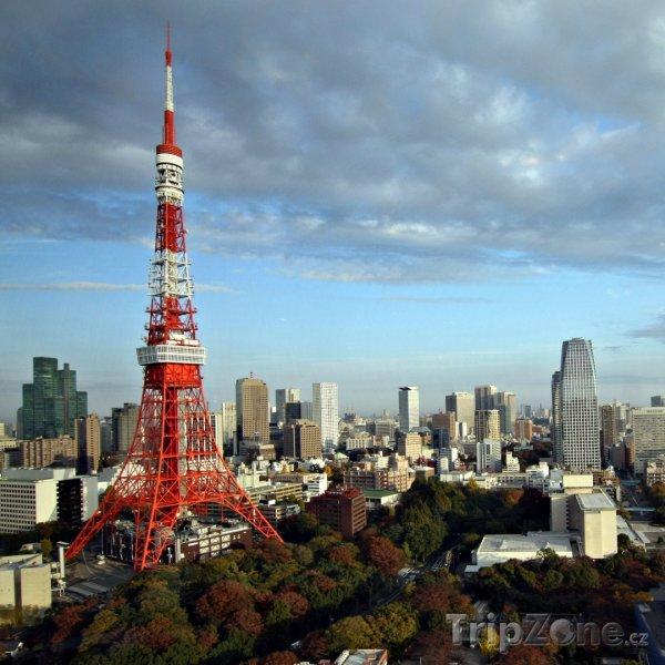 Fotka, Foto Pohled na Tokijskou věž (Tokio, Japonsko)