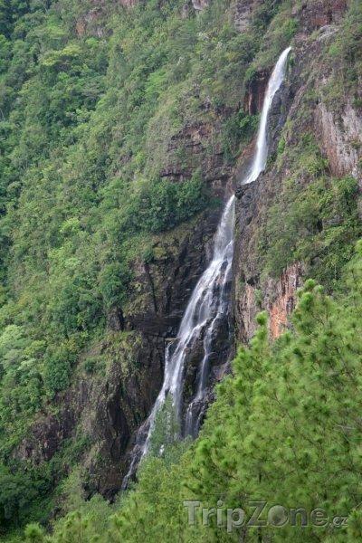 Fotka, Foto Pohled na vodopád (Belize)