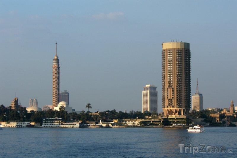Fotka, Foto Pohled z Nilu na ostrov Gezira (Káhira, Egypt)