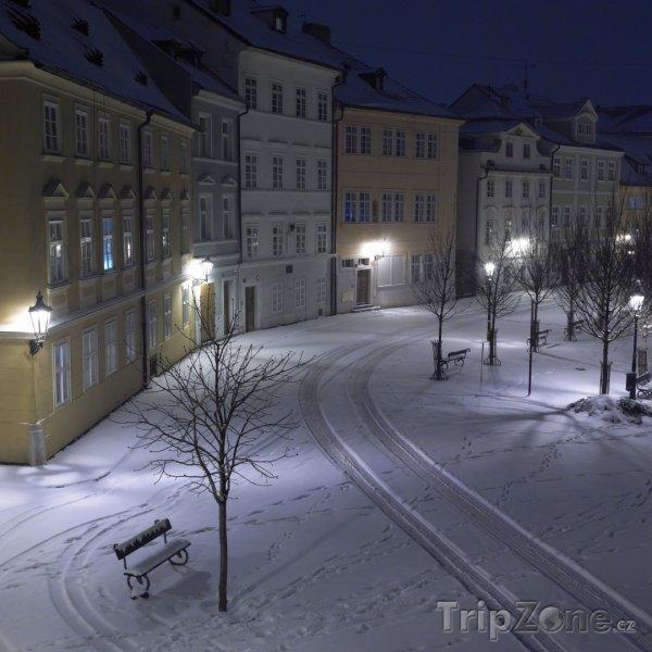 Fotka, Foto Praha, zasněžená Kampa (Praha, Česká republika)