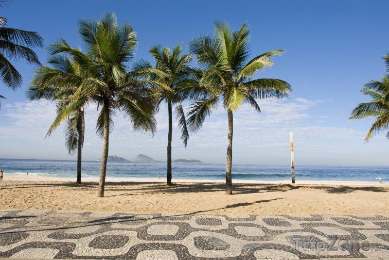 Fotka, Foto Promenáda u pláže Ipanema (Rio de Janeiro, Brazílie)
