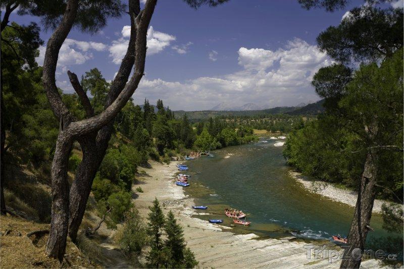 Fotka, Foto Rafty na řece Koprulucay (Antalya, Turecko)