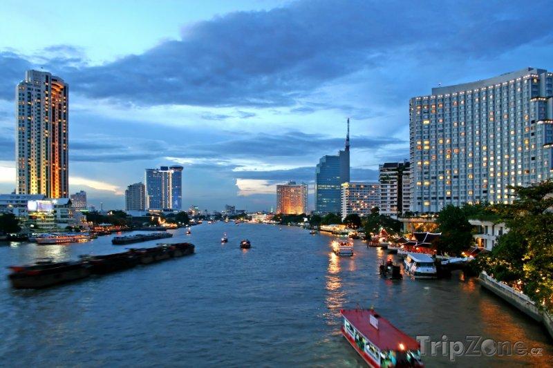 Fotka, Foto Řeka Chao Phraya v Bangkoku (Bangkok, Thajsko)