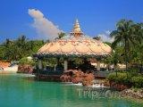 Restaurace na břehu Paradise Islandu