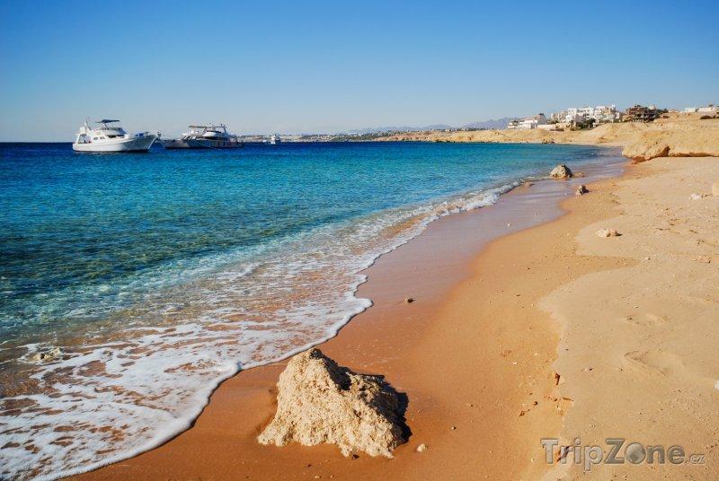 Fotka, Foto Sharm El Sheikh, lodě u pobřeží (Sinaj, Egypt)