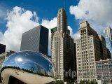 Skulptura Cloud Gate v Chicagu