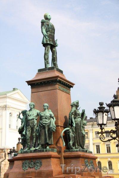 Fotka, Foto Socha Alexandra II. (Helsinky, Finsko)