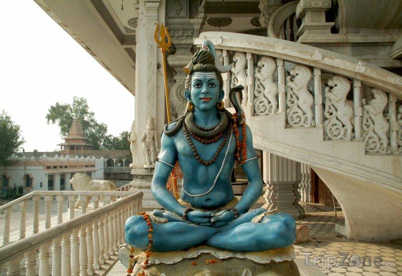Fotka, Foto Socha hinduistického boha Šivy (Nové Dillí, Indie)